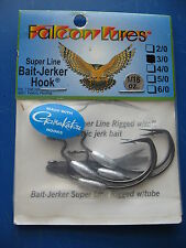 Falcon Lures 5//0 weighted G-Lock Bait Jerker Hooks 4pk