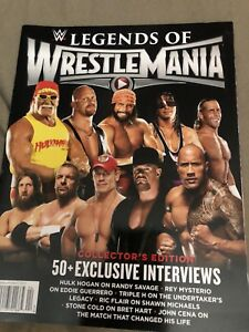 Wwe Legends Of Wrestlemania Magazine Signed By Steve Austin Ebay