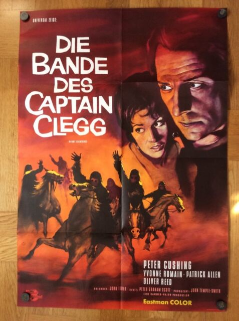Bande des Captain Clegg (Kinoplakat/Filmplakat '63) - Peter Cushing / Hammer