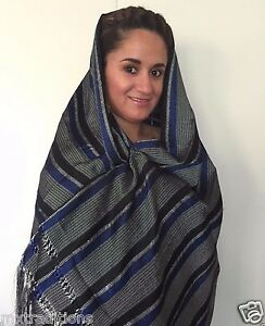 MEXICAN SHAWL WRAP SCARF FROM MEXICO REBOZO BUFANDA ECHO EN MEXICO