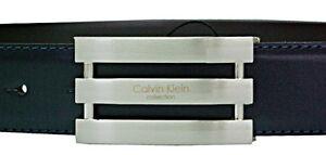 Cintura-belt Pelle Uomo Calvin Klein K50k502473 Arthur Roller - Nero/blu B291s