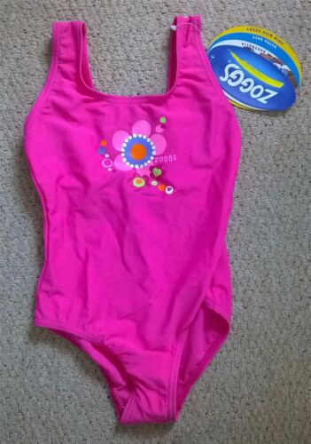 NEW Girl/'s Zoggs Karama Ultra Soft Pink Scoopback Swimming Costume Age 3 22/""