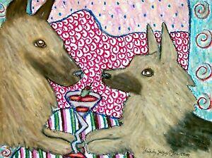 Belgian-Tervuren-Drinking-a-Martini-Dog-Pop-Folk-Art-Print-8x10-Signed-by-Artist