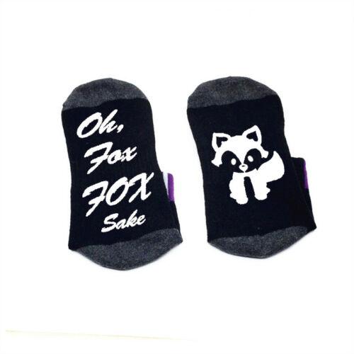 Oh For Fox Sake Socks cotton elastic comfortable unisex Socks Fox silhouette