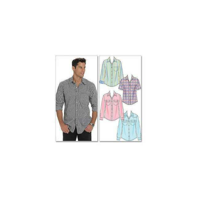 Size XN McCalls Patterns M6044 Mens Shirts X-XXL-XXXL