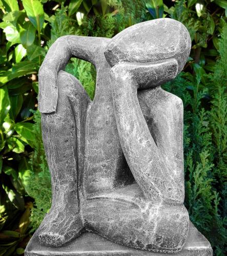 Steinfigur Träumer Skulptur Mensch Gartendeko Gartenfigur Statue Geschenkidee