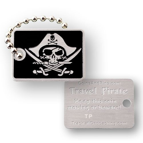 pour geocaching Pirate micro voyage tag geocoin