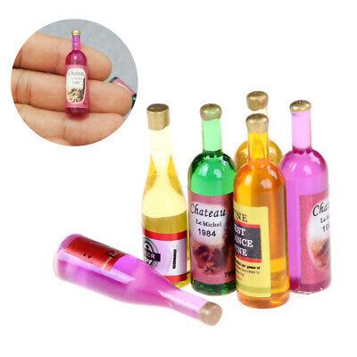 6pcs 1//12 dollhouse miniature accessories mini wine bottle simulation model To*D