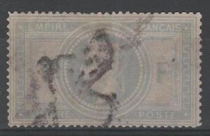 FRANCE-STAMP-TIMBRE-33-034-NAPOLEON-III-5F-VIOLET-GRIS-034-OBLITERE-A-VOIR-N932