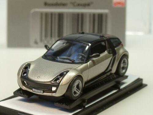 Busch 49355-1//87 Smart Roadster Coupe-plata//negro-nuevo