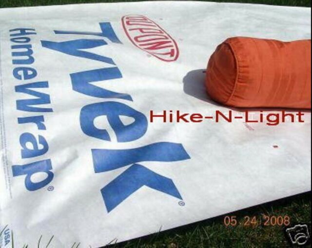 9' Tyvek Ultralight Hiking Camping BackpackingTent Tarp w/ Quik Stik Grommets