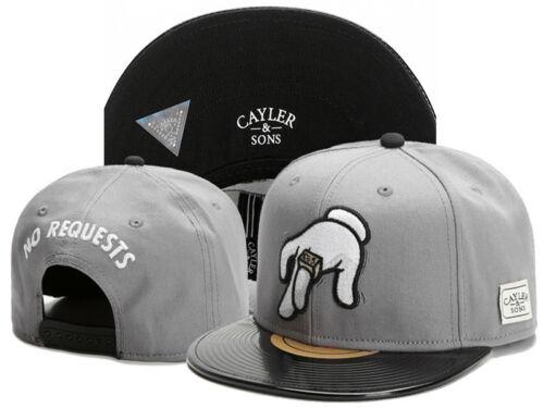 Men CAYLER SONS Snapback Adjustable Baseball cap Hip hop women bboy Gray hat 1#