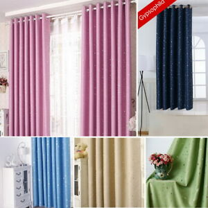 f1d941fcb2c7 Image is loading Dream-scene-Star-Thermal-Blackout-Curtains-PAIR-Eyelet-