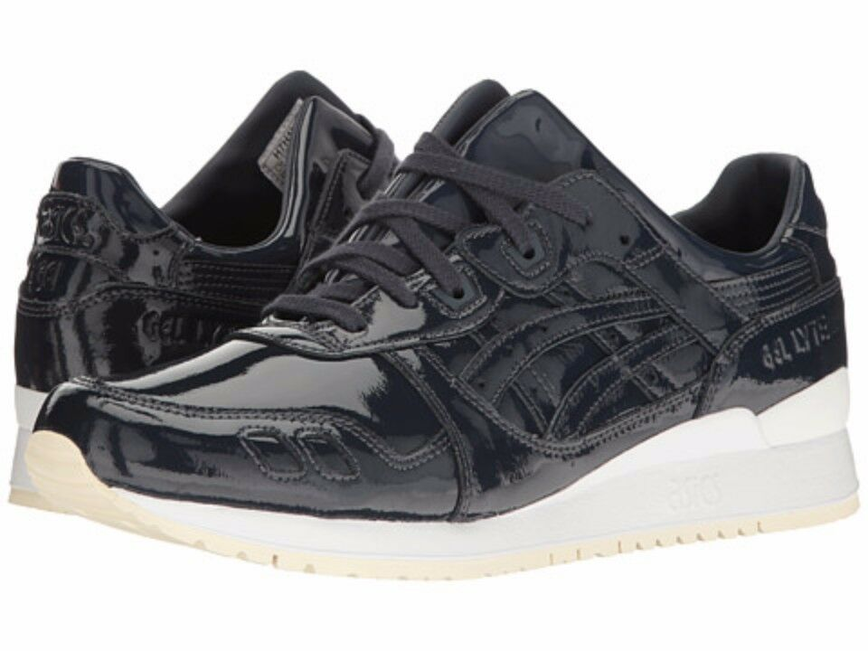 {H7H1L.5858} Men's ASICS GEL-LYTE III PATENT LEATHER (INDIA INK)  Brand New