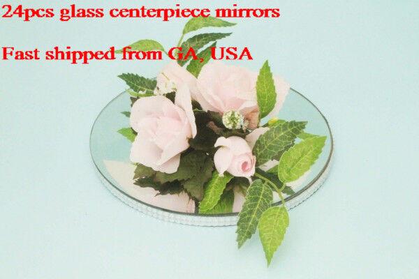 24 pcs 10  Round Centerpiece miroirs Décoration Miroirs ROUND (Usa Vendeur)