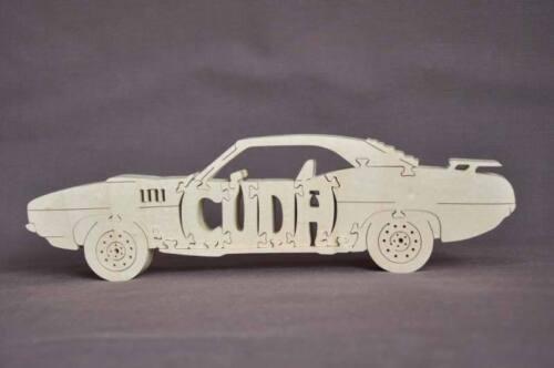Barracuda Cuda Vintage Car Hot Rod Wooden Puzzle Toy Amish Made