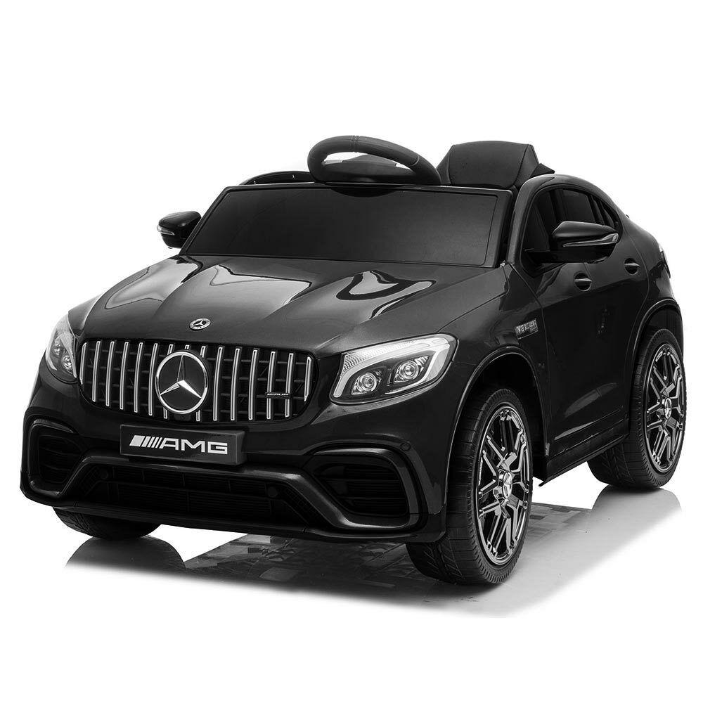 Auto Elettrica Bambini Mercedes GLC 63 AMG  Nera 12V Sedile Pelle e Telecouomodo  consegna veloce