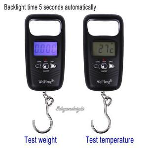 50kg/10g Digital Portable LCD Electronic Luggage Hook Weight Temperature Scale