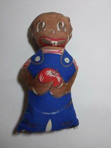 Antique-African-American-Folk-Art-Rag-Doll-with-Apple-Black-Americana
