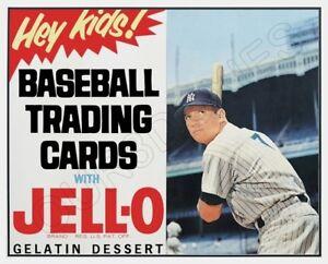 1963 Mickey Mantle Jello Baseball Cards Store Counter