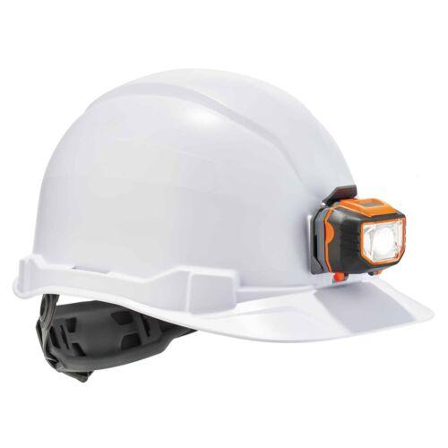 Ergodyne Skullerz Cap Style Hard Hat with LED Light White