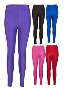 Girls-Leggings-Leotard-Gymnastic-Ballet-Shiny-Dance-Stretchy-Sports-5-12-years
