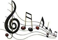 Musical Notes Wall Decor, Sound Bar Bedroom Artwork Hanging Home Accent Metal on Sale