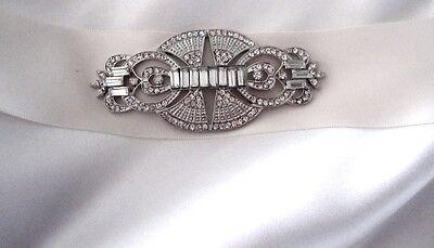 Bridal Wedding Art Deco Vintage inspired Embellishement Applique for Sash Brooch