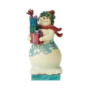 Jim-Shore-Christmas-Wonderland-Snowman-With-Gifts-Figurine-6004191-New