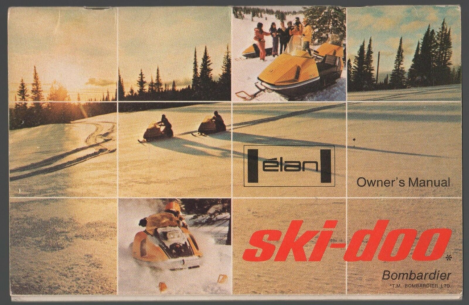 1971 SKI-DOO ELAN SNOWMOBILE OPERATORS MANUAL  NICE  (174)