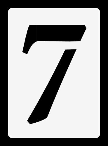 Stencils Ziffern Schablonen einzelne Zahlen ● 10cm hoch