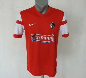 SC-Freiburg-2014-2015-Home-Jersey-Nike-T-Shirt-Red-Size-M-Football-Germany