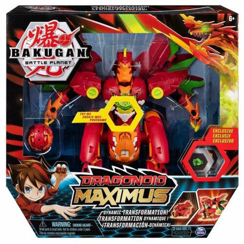 BAKUGAN Dragonoid Maximus 20 cm Transforming Figure avec Lumières /& Sons 6051243