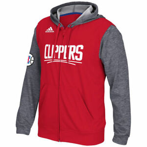 Game Details Adidas Full Sweatshirt Los Angeles Men's Pre Hooded Zip About Clippers Red fvyI7Yb6g