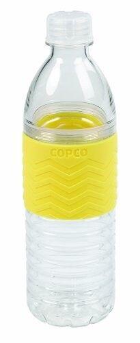 Copco Hydra Reusable Plastic Water Bottle 16.9 Ounce Buttercream Yellow