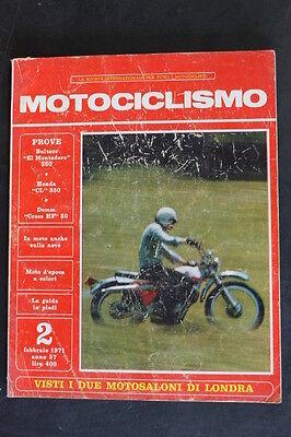 Umile Motociclismo N. 2 Febbraio 1971 Bultaco El Montadero 360 Honda Cl 350 Demm Hf 50