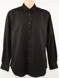 Genuine-VIVIENNE-WESTWOOD-Men-039-s-Black-Long-Sleeve-Shirt-M-size-48