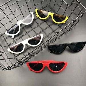 Montura-Media-Gafas-de-sol-UNIQUE-Mujer-Ojos-Gato-Moda-senoras-rosa-tono-lentes