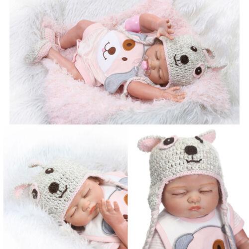 "20/"" Handmade Lifelike Reborn Newborn Baby Doll Full Silicone Vinyl Bath Girl Toy"