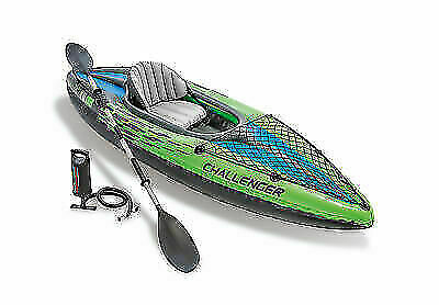 challenger k1 inflatable kayak boat with oar