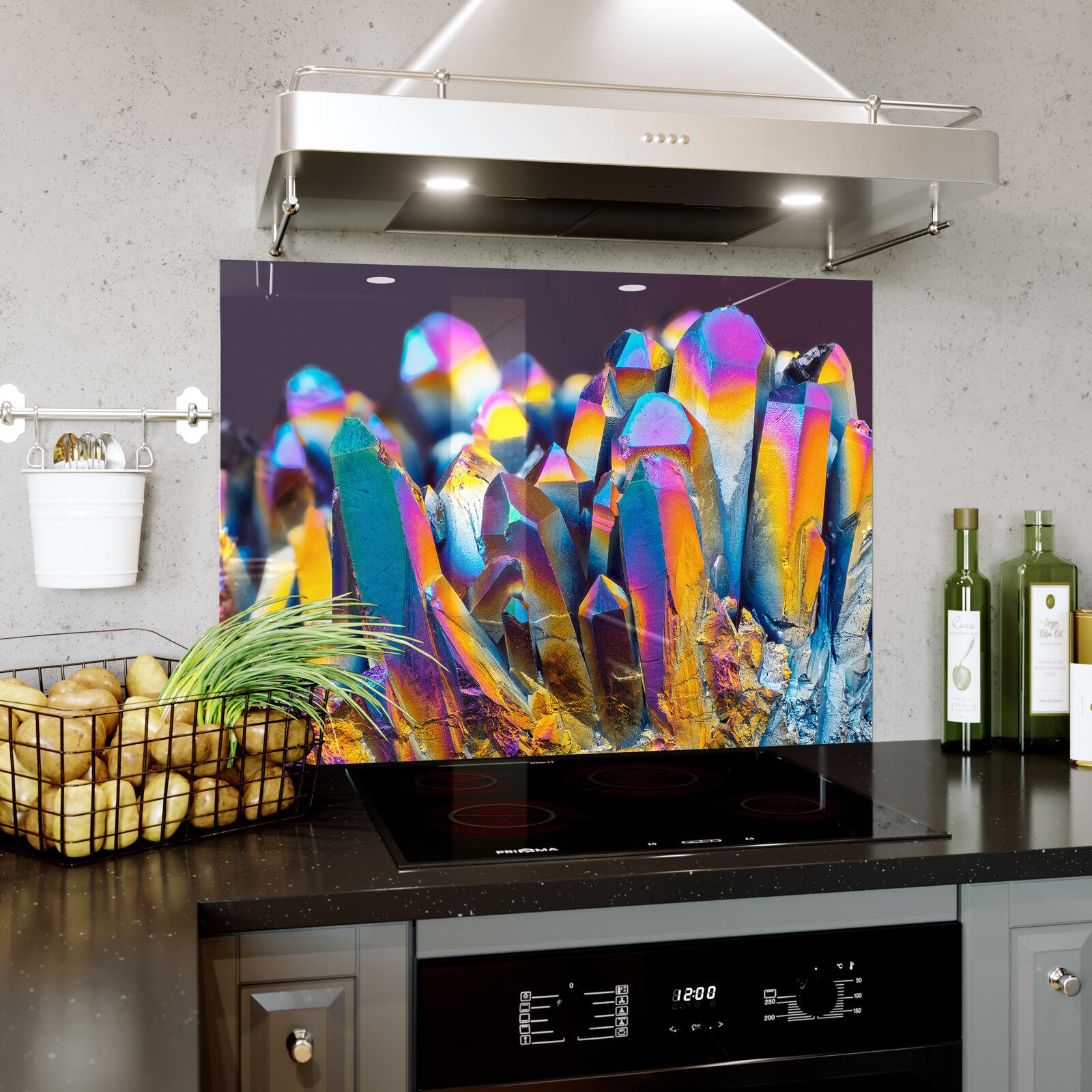 bellissimo Paraspruzzi Vetro Cucina Cucina Cucina Fornello Arcobaleno Cristallo Struttura Zoom  risparmia fino al 70%