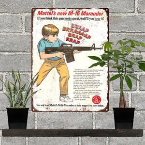 1967-Mattel-M-16-Riffle-Gun-Ad-Man-Cave-Metal-Sign-Repro-9x12-034-60556