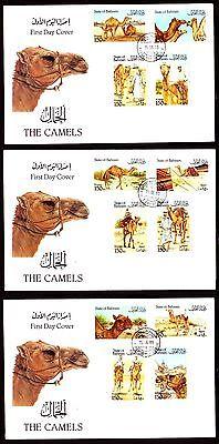 Dromedaries Bahrain 1989 Fdc Mi.386/97 Tiere Animals Camels