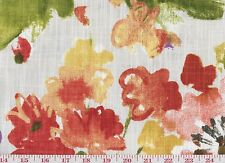 Floral Cotton Print USA P Kaufmann Drapery Upholstery Fabric Wildflowers ~ Rouge