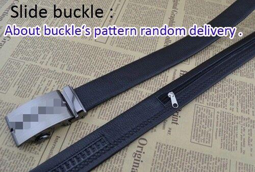 Men/'s Leather Belt Zip Hidden Cash Travel Money Belt Slim Anti-Theft Waist Pouch