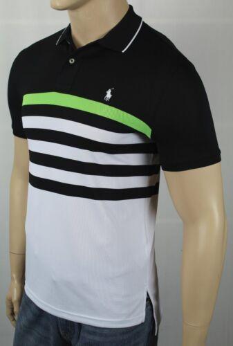 Polo Ralph Lauren Performance Black Green White Pony Shirt NWT