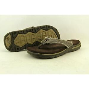 706bbeb99b40 Buy SKECHERS Mens Supreme Bosnia Thong Sandals 9 Chocolate Brown ...