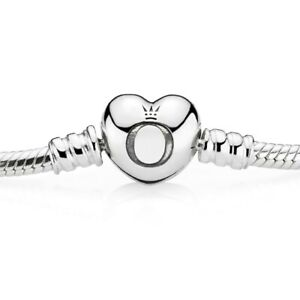 Authentic-Pandora-Silver-Bracelet-With-Heart-Shaped-Clasp-with-Pouch-590719