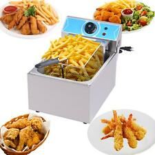 New Listing10l Electric Deep Fryer Tank Commercial Countertop Fry Basket Restaurant 3000w