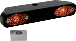 Pro-One Black Amber Turn Signal  Triple Tree Marker Light Bar Harley XL FXR